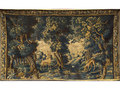 A 17thC Flemish verdure tapestry, woven in wools and ...