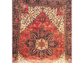 1970s Persian Heriz room-size rug, with eight-point star